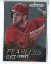 BRYCE HARPER 2013 Panini Prizm FEARLESS #5 Nationals - $3.99