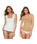 Nearly Nude 2 pack Seamless Shaping Tank in Nude/White, M/L (584826) - $27.71