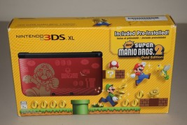 Nintendo 3DS XL Super Mario Bros 2 Limited Edition Red Handheld Game Sys... - $239.99