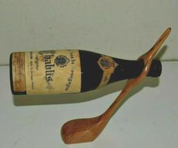 Nice Custom GOLF Club Golfing Gravity Modern Wooden Single Wine Bottle H... - £11.27 GBP
