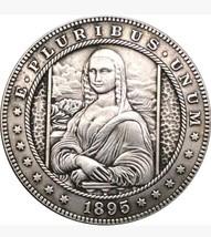 Rare 1895 Morgan Dollar Hobo Nickel Mona Lisa Art Coin Casted Unique Mus... - $11.99