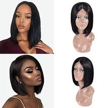Simei Short Bob Wigs Human Hair Lace Front Wigs For Black Women Brazilian Virgin image 1