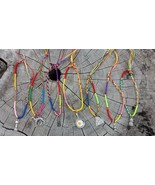 Empowering Jewelry Lot of 7 Charms Friendship Bracelets Multicolored Boh... - $4.95