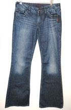 "PO SILVER Jeans Toni 21"" Dark Blue Pants Faded Boot Cut Low Rise Denim 3... - $42.27"