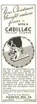 1938 Original Print Ad Cadillac Vacuum Cleaner 2V1-34 - $3.50