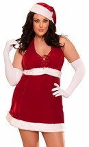 New 7 'til Midnight Women's Sexy Santa Baby Halloween Costume 10277X Size 1X/2X