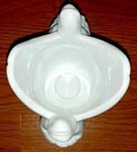 "Angel Candleholder "" AVON "" Collection Porcelain White 5"" High 4"" Long C... - $9.75"