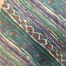 Adolfo Men's Classic Necktie 100% Silk, Paisley Pattern Green and Blue Tie - $4.94
