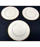 """3 Lenox Ivory w/ Gold Detail 6.5""""W Mansfield Bread and Butter Plates - $39.99"""