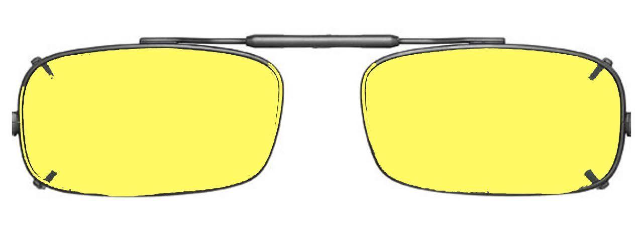 0342011c57 Visionaries Polarized Clip on Sunglasses - True Rec - Bronze Frame - 54 x  31 Eye