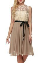 Simple Lace Chiffon Short Champagne Prom Dress Cheap 2017,Formal Dress C... - $2.656,12 MXN