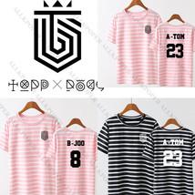 KPOP TOPP DOGG First Street T-shirt  A-TOM Stripe Tshirt Unisex B-joo Te... - $12.98