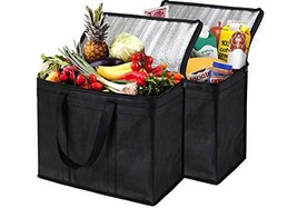 NZ Home 2 Pack Insulated Reusable Grocery Bags, Extra Large, Foldable, S... - $24.82