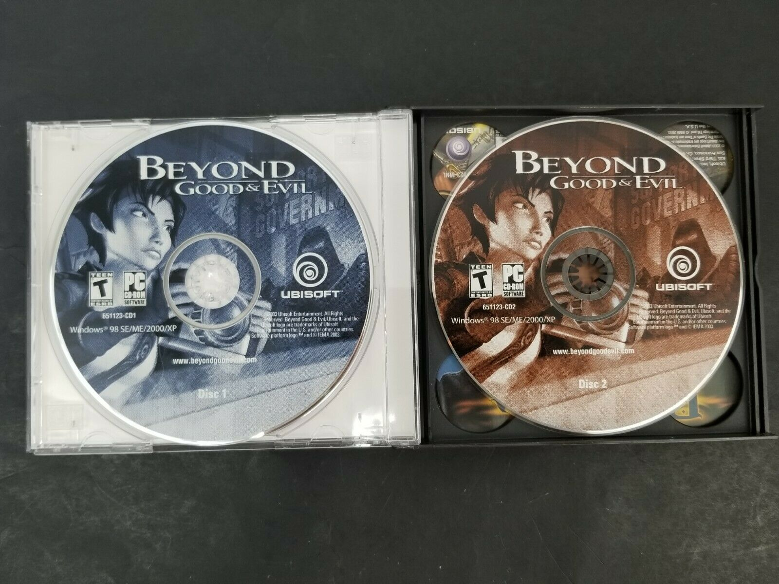Beyond Good & Evil PC Game (PC CD-ROM, 2003) Rated (T) for Teen 651123 Ubisoft