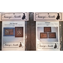 Rustic Counted Cross Stitch Bundle Patterns Fabric Nancy's Needle Countr... - $16.99