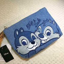 Disney Chip & Dale Hug Denim Pouch Cosmetic Case Mini Bag - $54.45