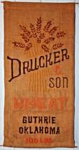 Drucker & Sons Wheat burlap wall Hanging Tina of California Needlepoint kit - $29.69