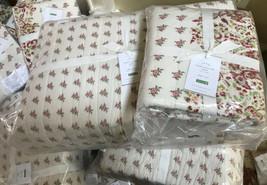 Pottery Barn Liviah Quilt Ivory Queen 2 Standard Sham Floral Paisley Neu... - $217.24