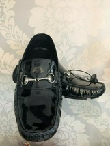 COLE HAAN Black Patent Leather Silver Bit Driving/Loafers/Flats Sz 8.5 $180 - $106.82