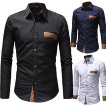 Men Long Sleeve Shirt 2018 Fashion Business Dress Shirt - $30.48