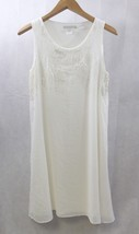 Design History Women Dress White Dressy Sequins Size M - $15.83