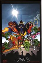 George Perez SIGNED DC Comics Teen Titans Art Print ~ Robin Starfire Won... - $49.49