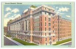 Mid-1900s Cook County Hospital, Chicago, IL Postcard - $6.43