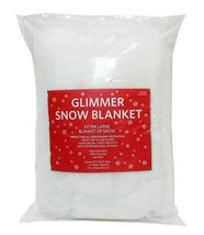 """2 Glimmer Snow Blanket Ice Flakes Extra Large 15""""x10-12 SQ FT Holiday De... - $14.99"""