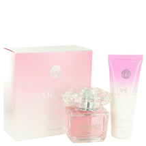 Versace Bright Crystal 3.0 Oz EDT Spray + 3.4 Oz Body Lotion 2 Pcs Gift Set image 1
