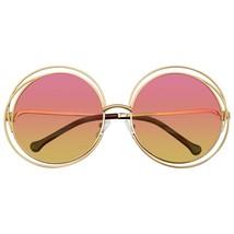 Gafas de Sol Redondas Doble Alambre Grande Extragrande Boho Círculo Lente Retro - $11.46