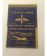 Vintage Matchbook Cover Matchcover US Air Force Base Indiana IN 434th Troop - $6.18