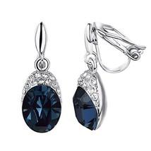 Yoursfs Clip on Earrings For Women wedding Birdal 18K Rose/White Gold Pl... - $14.24