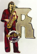 Hard Rock Cafe Pin Saxophone Sax Player NY New York R Musician Letter Se... - $14.99