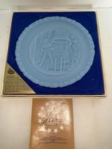 "Fenton Authentic Handmade 8"" Blue Plate ""Proclaim Liberty"" #4 In Series - $10.00"