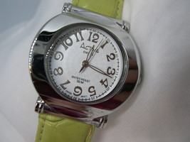 """L40,  Activa Ladies Large Faced Watch, 8.5"""" Lgt Green Band, WR 30m, wb - $19.99"""
