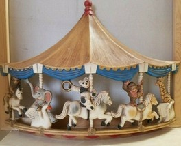 1979 HOMCO Molded 3D Merry Go Round Circus Carousel Wall Plaque Carnival... - $28.99