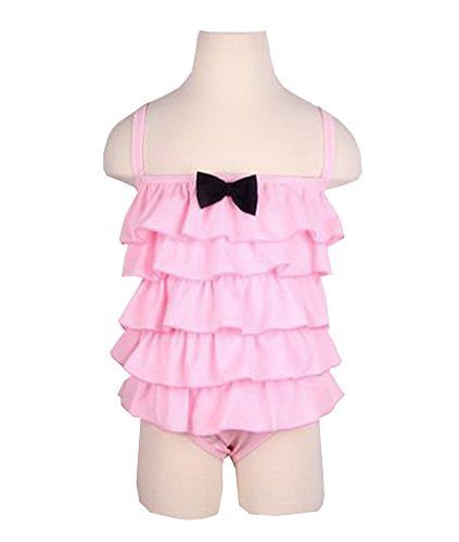 Beautiful Baby Girl Swimsuit Lovely Siamesed Swimsuit Pink 2~3Y