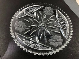 """VTG Late Century Cut Crystal  serving bowl dish small plate 7""""  - $34.65"""