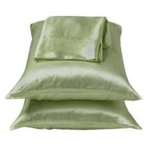 Sage/Green Charmeuse Lingerie Satin Pillowcase Set King - $10.99
