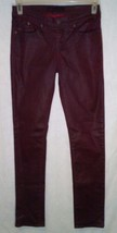 Rock & Republic Size 8M Skinny Jeans Berlin Coated Red Burgundy Leather ... - $24.75