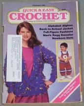 Quick & Easy Crochet July-August 1988 - Alphabet Afghan, Full Figure Fas... - $6.44