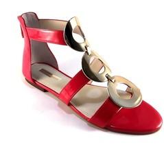 BCBGeneration Faroh Candy Red Flat Gladiator Sandals - $59.00