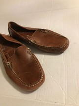 Bass Slip-On Leather Loafer  Size 11 1/2 M, Mid-Tan/Brown Vibram Soles - $18.69