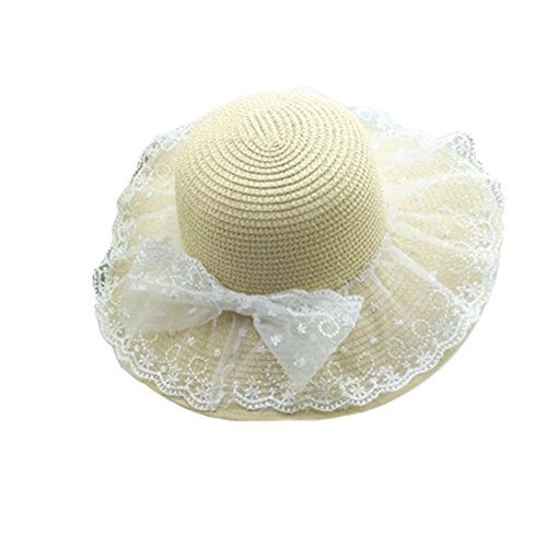 Summer Sunscreen Large Brimmed Hat Child Children Folding Beach Hat UV Girls
