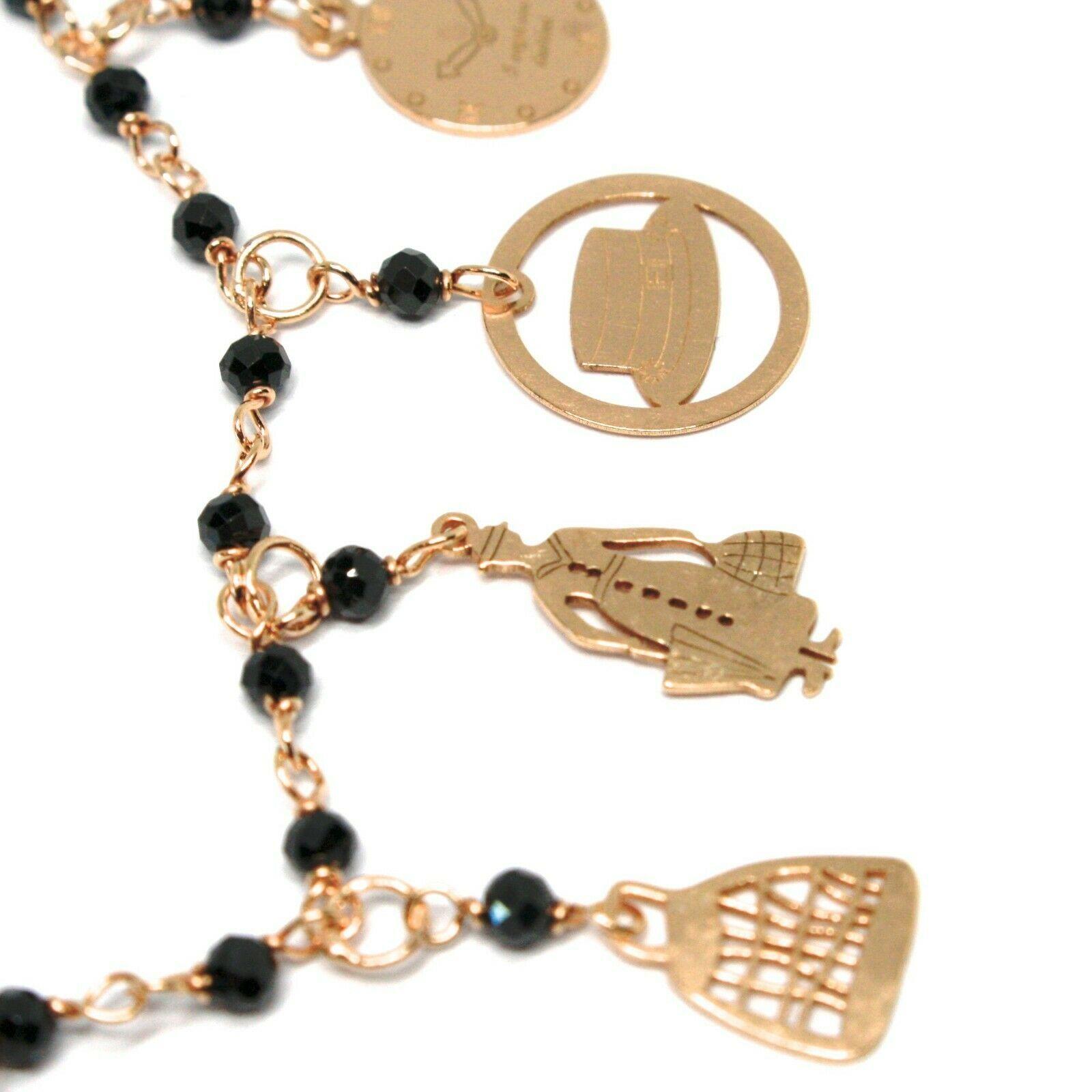 Armband und Ohrhänger 925 Silber, Mary Tasche Regenschirm Hut Sterne, Le Favole image 2