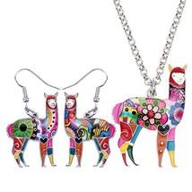 Bonsny Enamel Alloy South America Alpaca Earrings Drop Dangle Necklace Chain Pen - $14.64