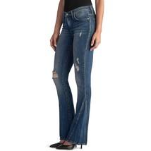 Nwt Damen Rock & Republic Kasandra Zerrissenes Bootcut Dunkle Verwaschene Jeans