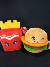 Russ Set Snackeez Frank Fries Bradley Burger Plush Stuffed Hamburger Kaw... - $16.82