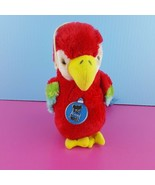 "Dakin Parrot Bird Watchers Plush 13"" Makes Sound 1981 Stuffed Animal  - $19.80"