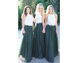 Dark green wedding skirt girl thumb155 crop